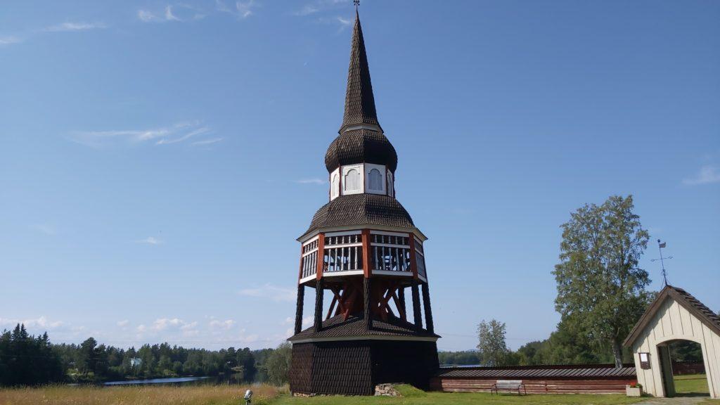 Klokketårnet i Älvros gamle kirke