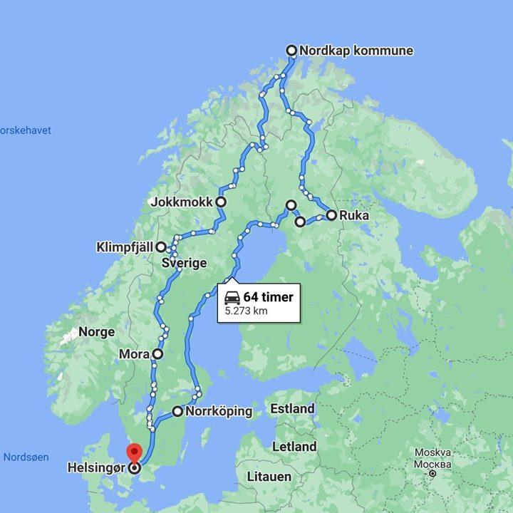 Rejsen til Nordkap 2019
